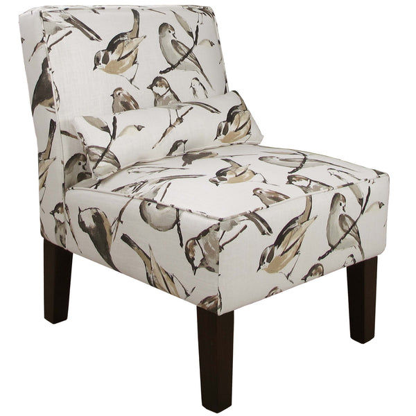 Armless Chair in Birdwatcher Charcoal - angelo:HOME