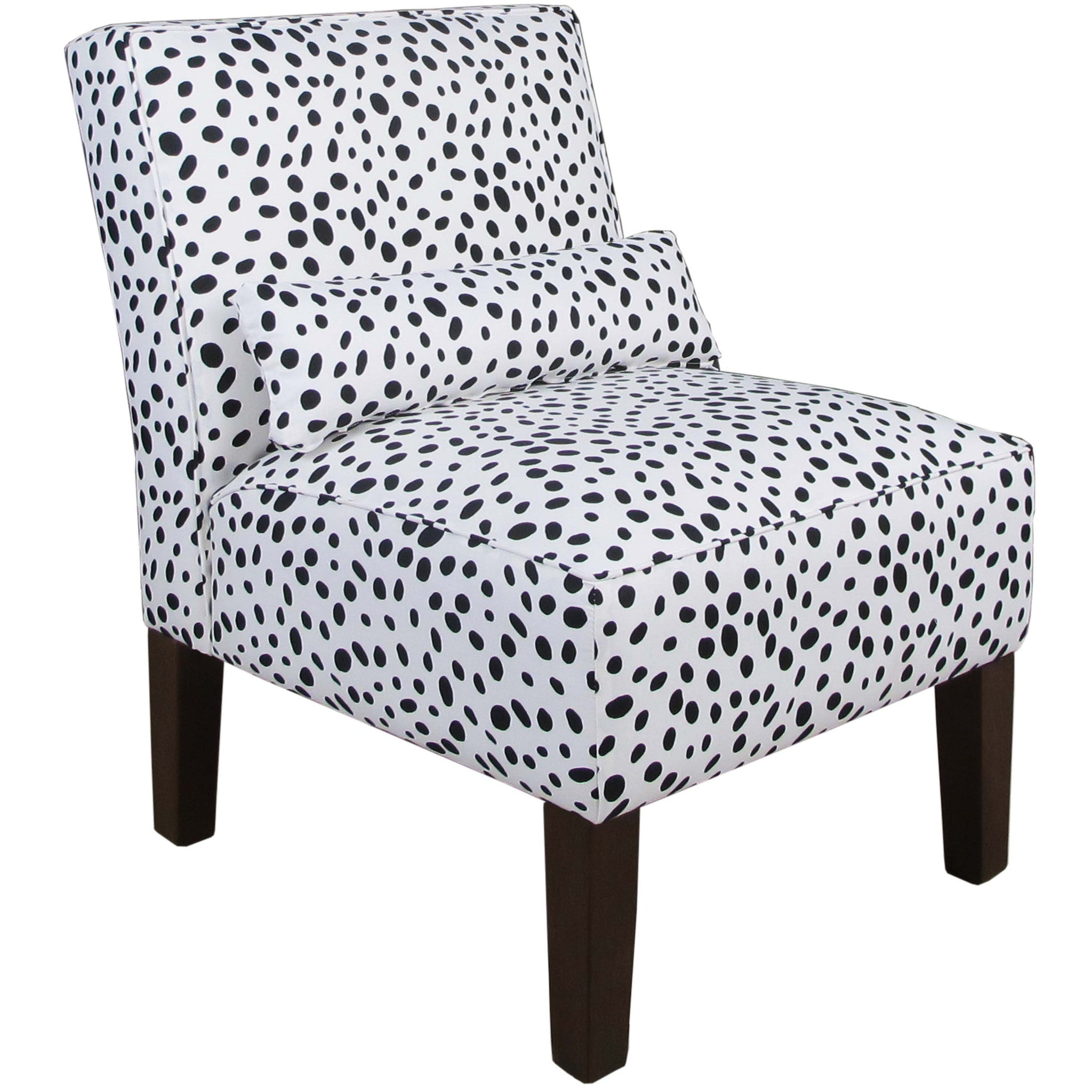 Superieur Armless Chair In Togo Black And White   Angelo:HOME