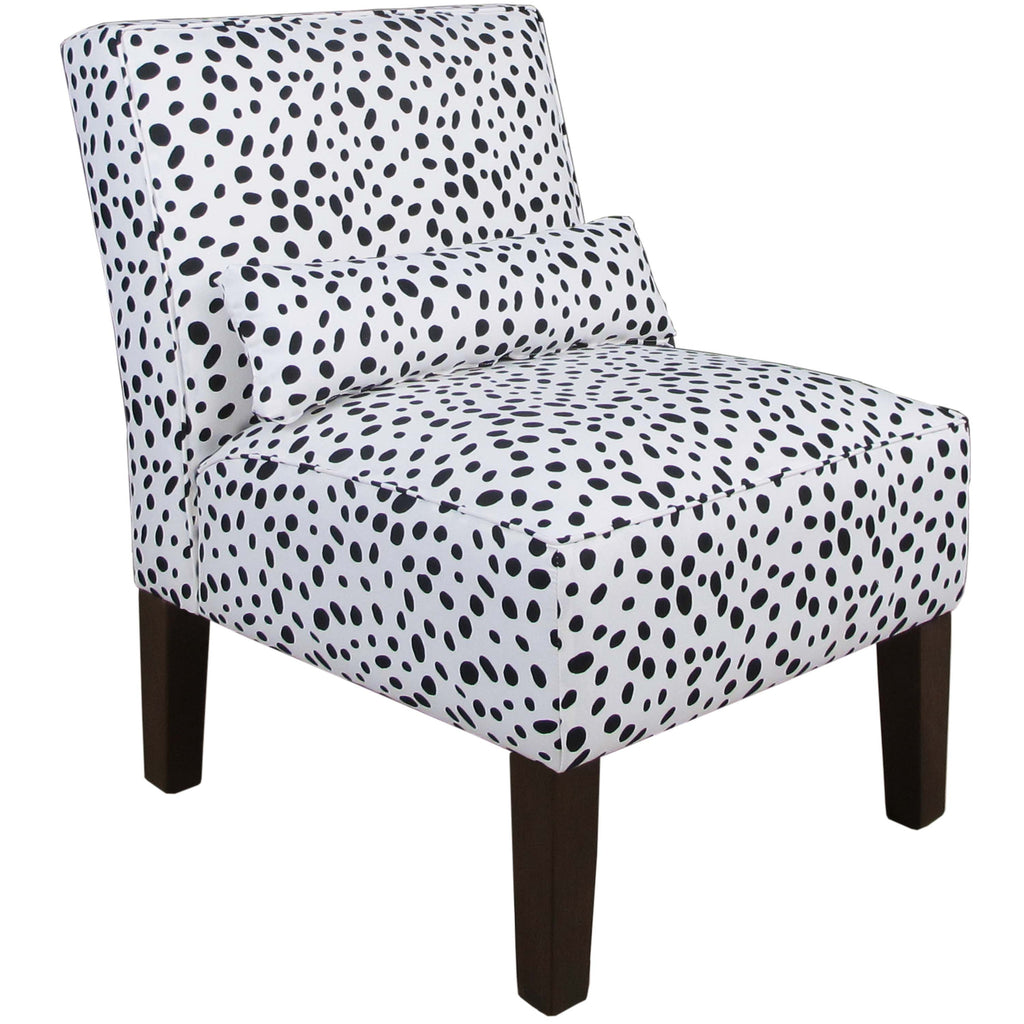Armless Chair in Togo Black and White - angelo:HOME