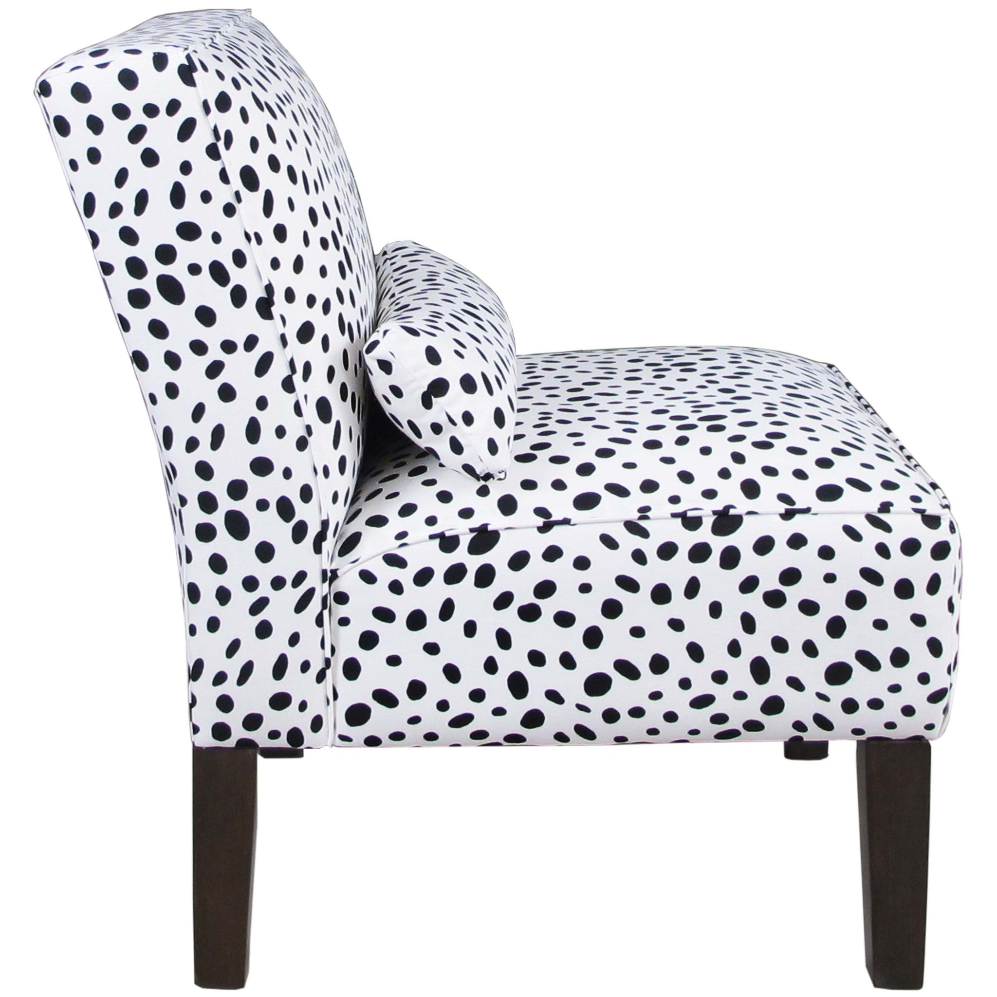 ... Armless Chair In Togo Black And White   Angelo:HOME ...