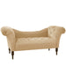 Tufted Chaise Lounge in Velvet Buckwheat