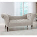 Tufted Chaise Lounge in Velvet Grey - angelo:HOME