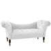 Tufted Chaise Lounge in Velvet White - angelo:HOME