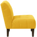 angelo:HOME Button Tufted Accent Chair in Linen French Yellow
