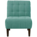 angelo:HOME Button Tufted Accent Chair in Linen Laguna
