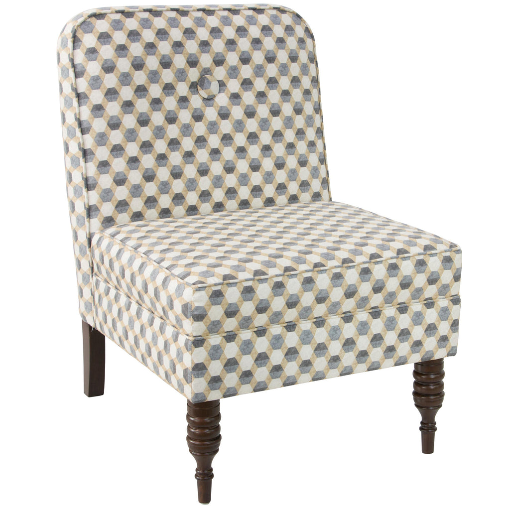 angelo:HOME Accent Chair With Button in Iznik Tile Desert - angelo:HOME