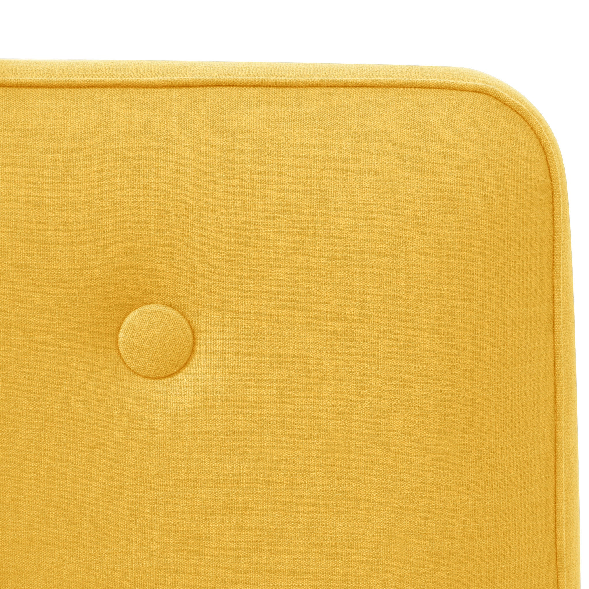 ... Angelo:HOME Accent Chair With Button In Linen French Yellow    Angelo:HOME