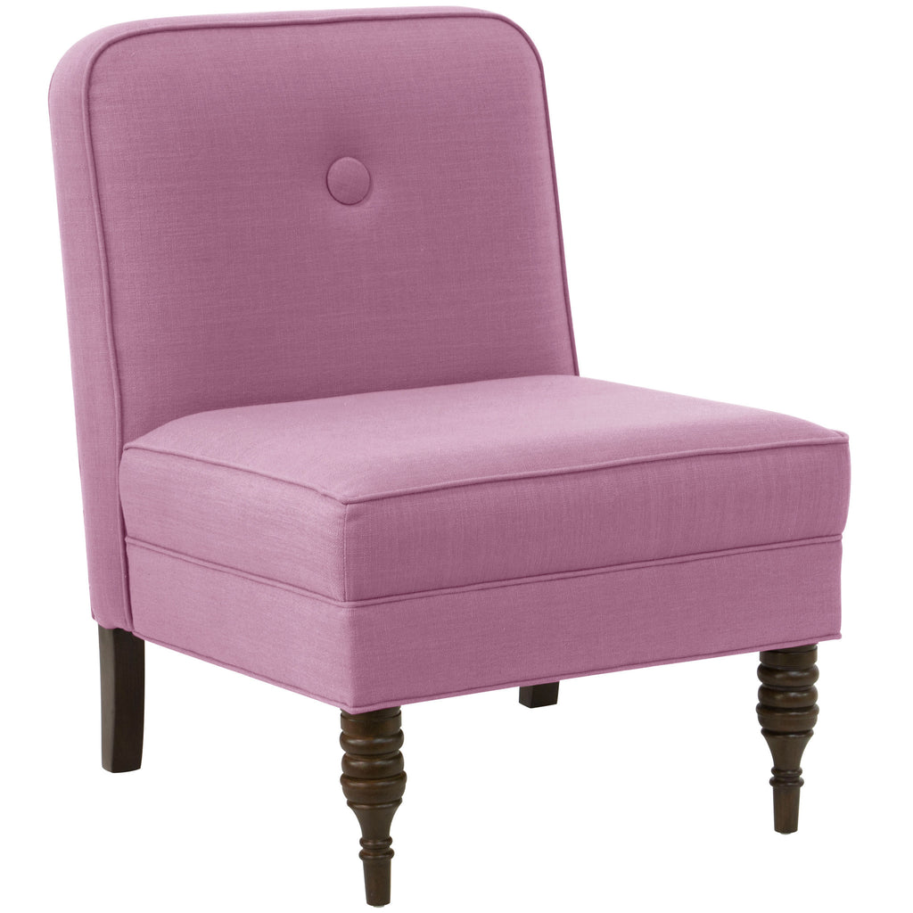 angelo:HOME Accent Chair With Button in Linen Lavender