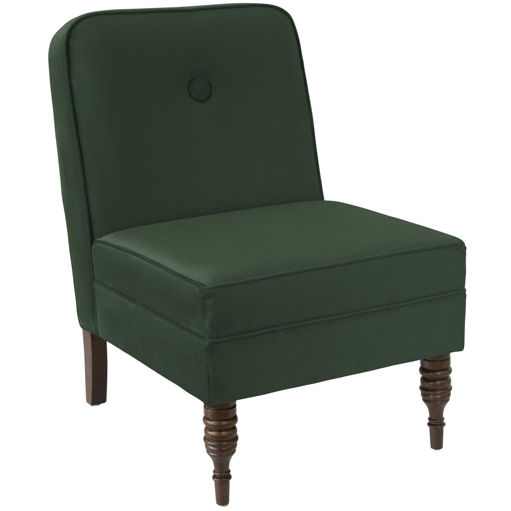 angelo:HOME Accent Chair With Button in Mystere Jade Velvet