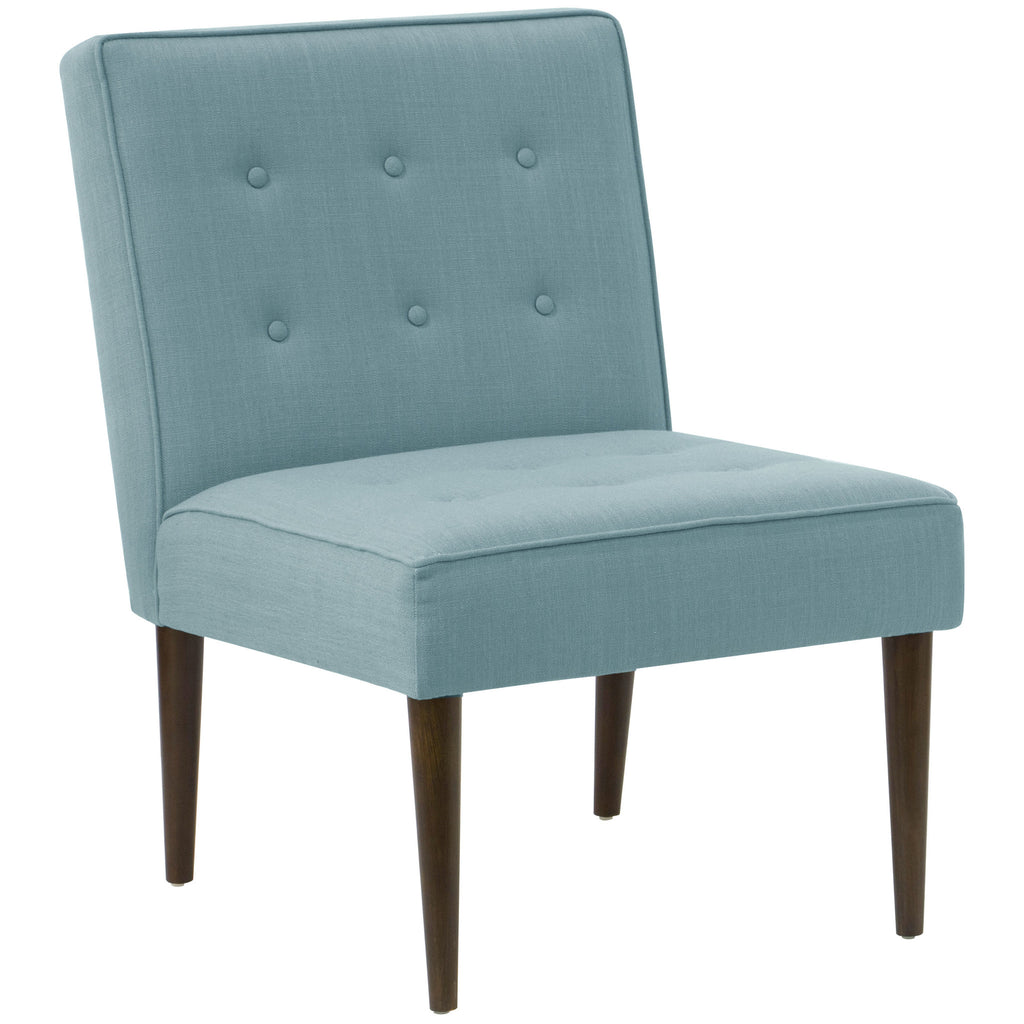 angelo:HOME Button Tufted Modern Chair in Linen Seaglass - angelo:HOME