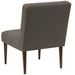 angelo:HOME Button Tufted Modern Chair in Linen Slate