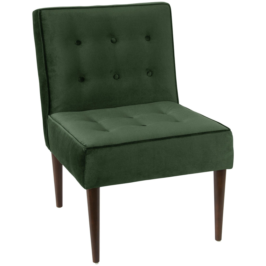 angelo:HOME Button Tufted Modern Chair in Mystere Jade Velvet - angelo:HOME