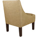 Swoop Arm Chair in Woven Glitz Filbert Brown - angelo:HOME