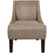 Swoop Arm Chair in Woven Groupie Gunmetal