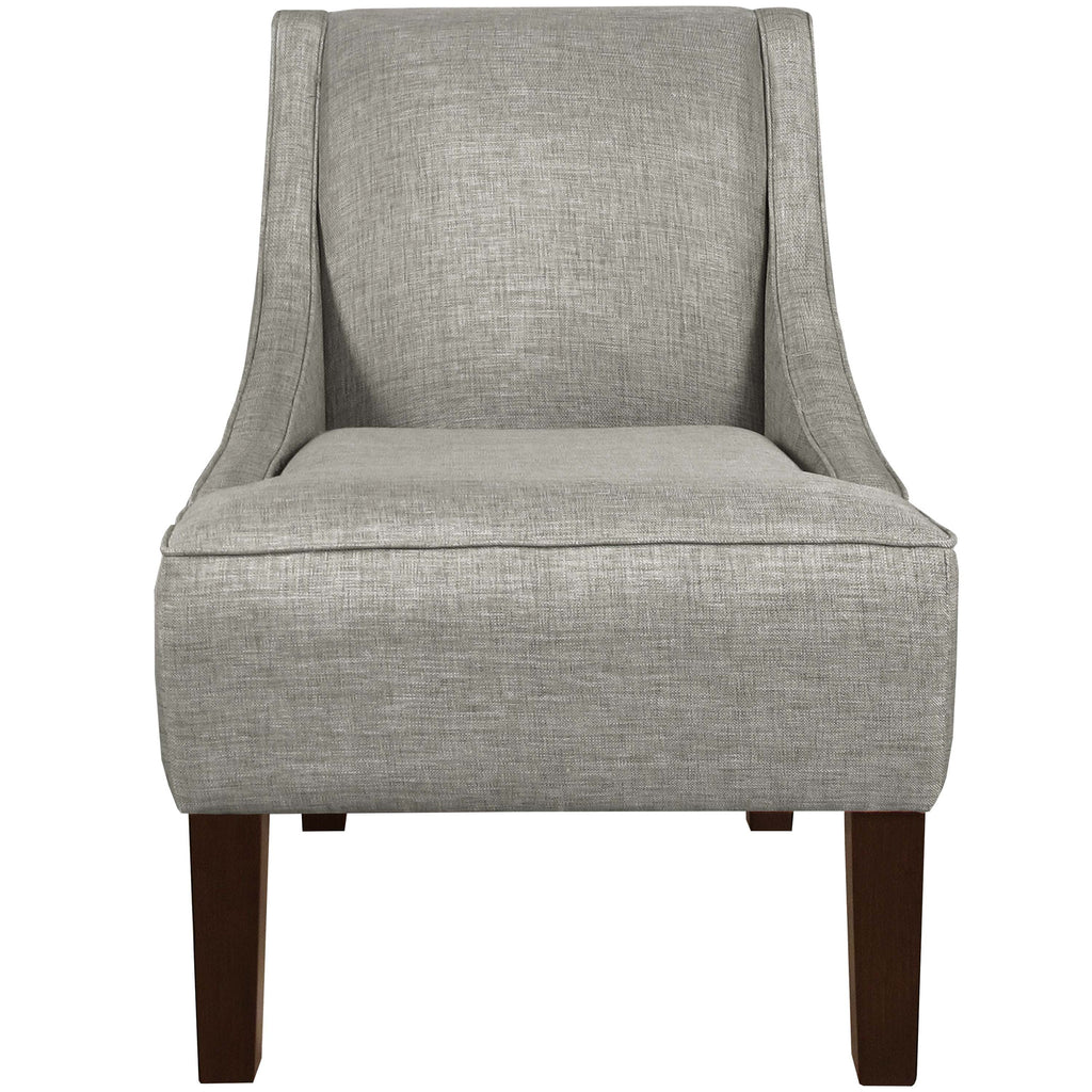Swoop Arm Chair in Woven Groupie Pewter
