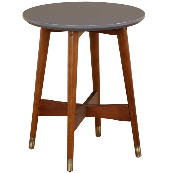 "angelo:HOME 20"" Mid-Century End Table with Grey Top"