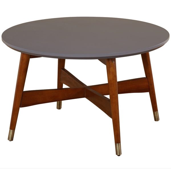 "angelo:HOME 30"" Mid-Century Coffee Table with Grey Top"