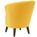angelo:HOME Channel Seam Barrel Chair in Linen French Yellow