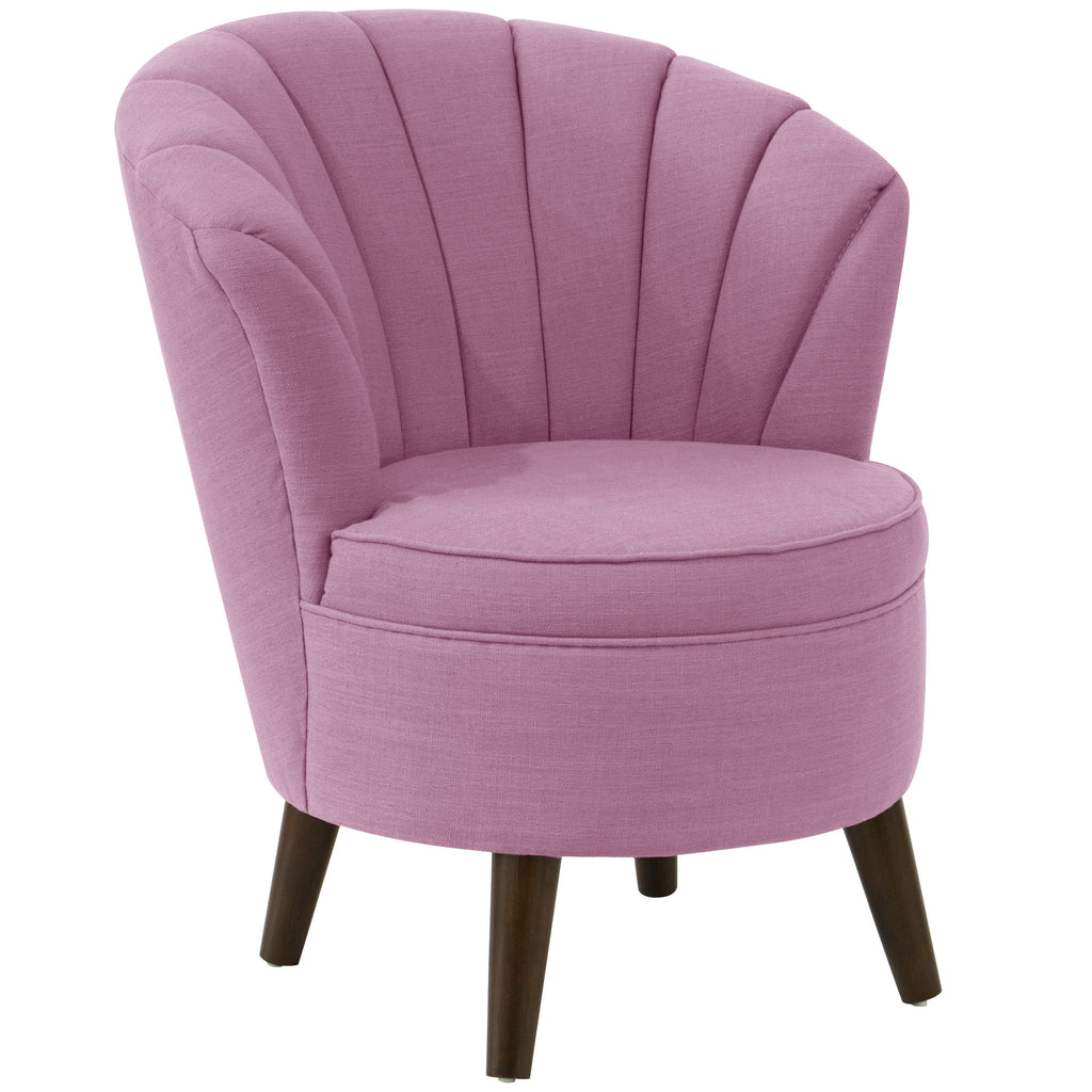 angelo:HOME Channel Seam Barrel Chair in Linen Lavender
