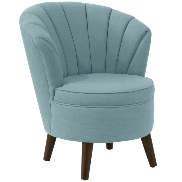 angelo:HOME Channel Seam Barrel Chair in Linen Seaglass