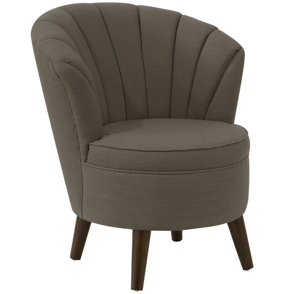 angelo:HOME Channel Seam Barrel Chair in Linen Slate
