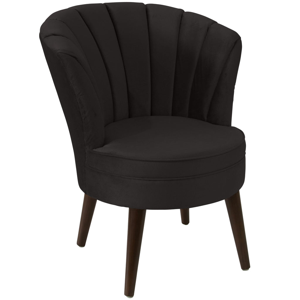angelo:HOME Channel Seam Barrel Chair in Mystere Cosmic Velvet