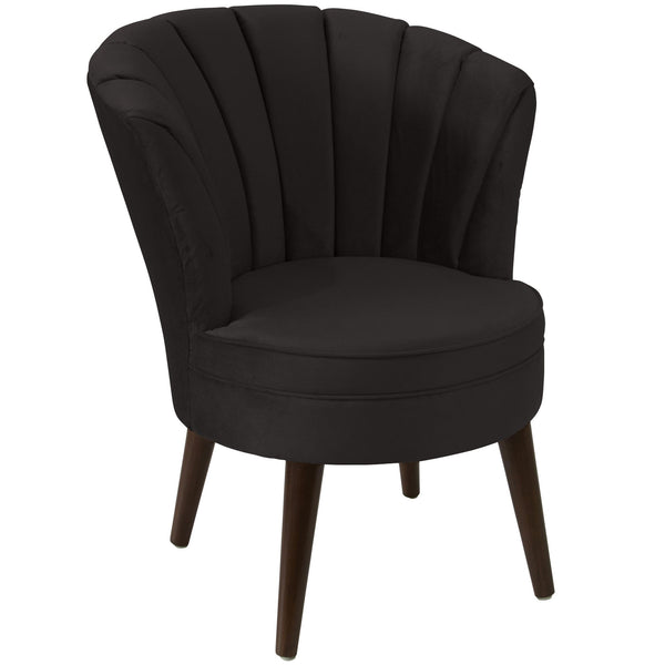 angelo:HOME Channel Seam Barrel Chair in Mystere Cosmic Velvet - angelo:HOME