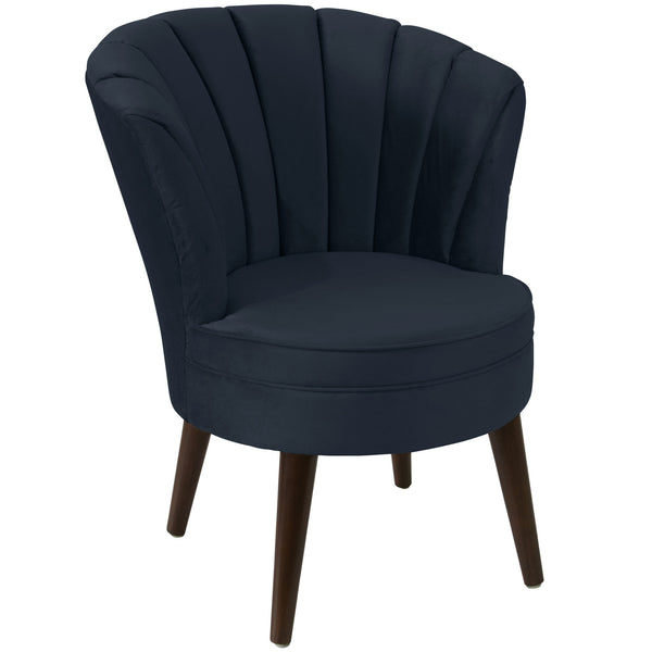 angelo:HOME Channel Seam Barrel Chair in Mystere Eclipse Velvet - angelo:HOME