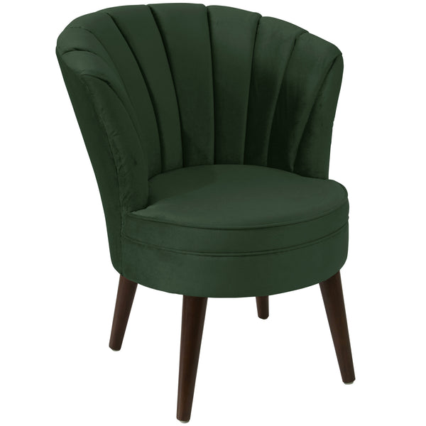 angelo:HOME Channel Seam Barrel Chair in Mystere Jade Velvet - angelo:HOME