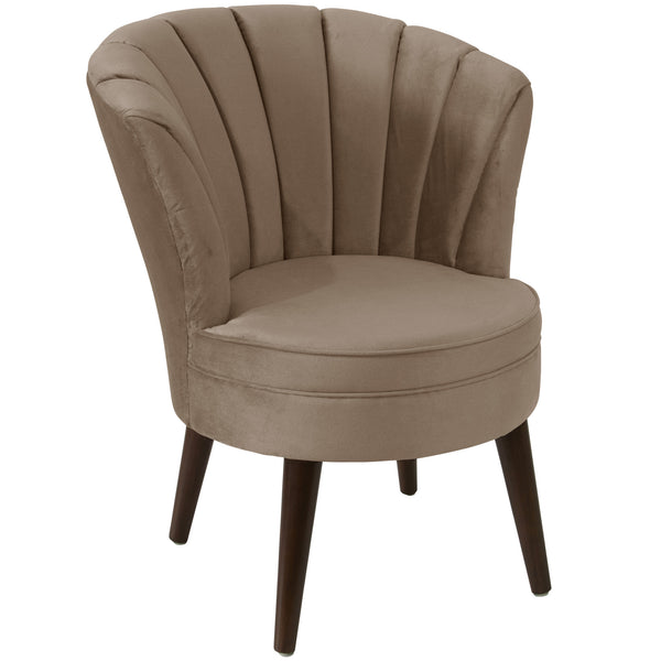 angelo:HOME Channel Seam Barrel Chair in Mystere Mondo Velvet
