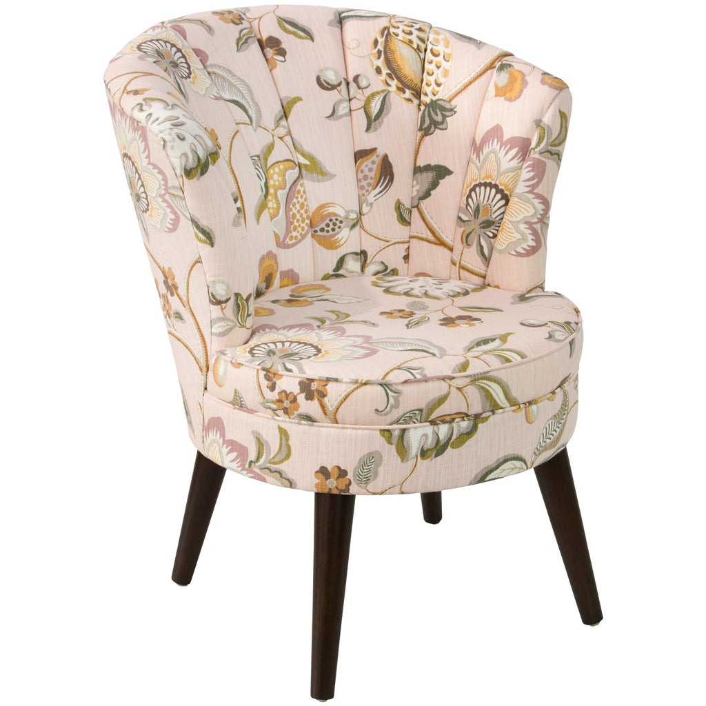 angelo:HOME Channel Seam Barrel Chair in Sweet Nothings Rose