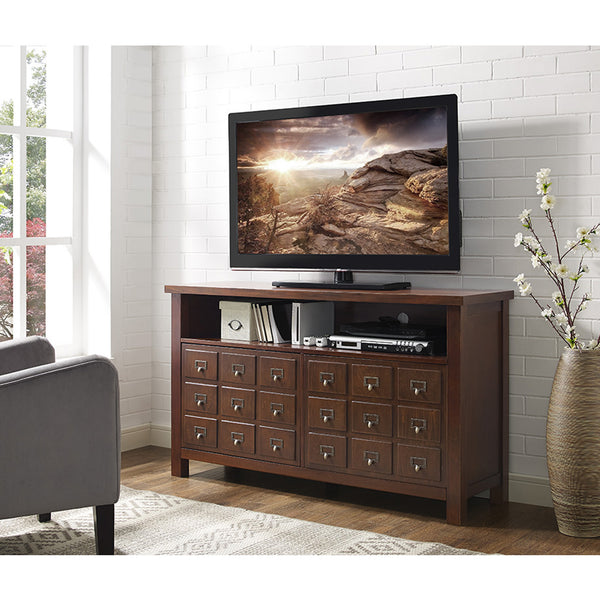 "angelo:HOME 52"" Apothecary TV Console in Walnut"