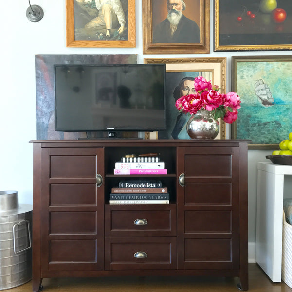"angelo:HOME 52"" Apothecary TV Console in Coffee"