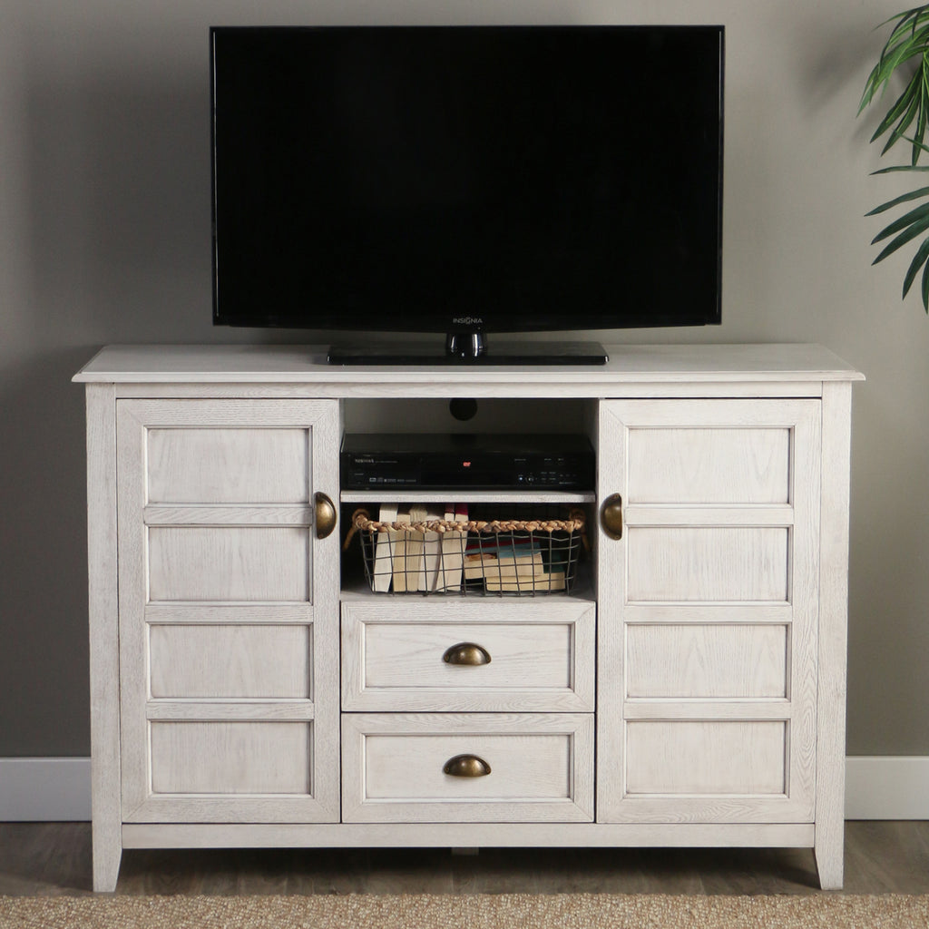 "angelo:HOME 52"" Rustic Chic TV Console in White Wash - angelo:HOME"