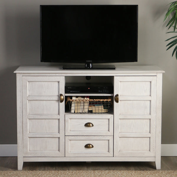"angelo:HOME 52"" Rustic Chic TV Console in White Wash"