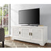 "angelo:HOME 60"" Louvered Door TV Console in White Wash"