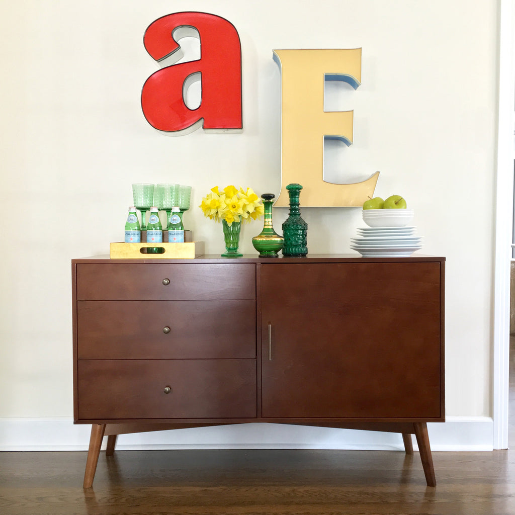 "angelo:HOME TV Console/Buffet Cabinet - 52"" Mid-Century (walnut) - angelo:HOME"