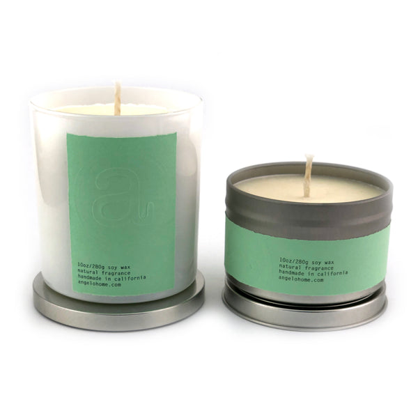 angelo:HOME Eucalyptus + Mint Scented Candle