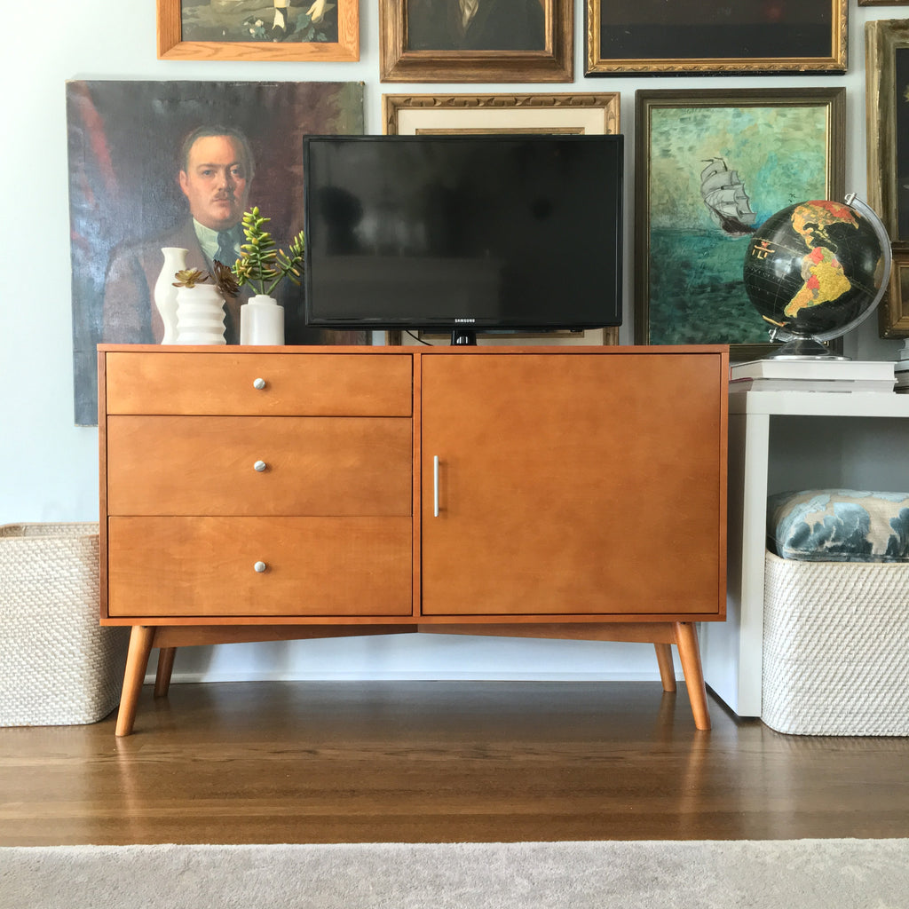 "angelo:HOME TV Console/Buffet Cabinet - 52"" Mid-Century (Acorn) - angelo:HOME"