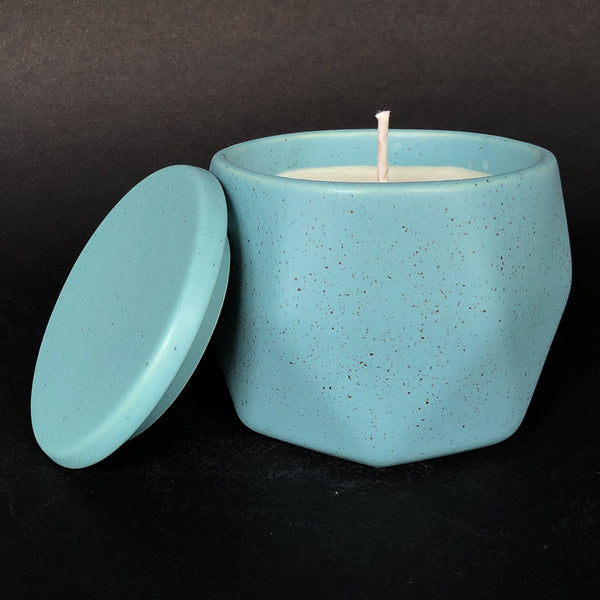 e.baran - Limited Edition Handmade Pottery Candle - Hex Mug - French Lavender - angelo:HOME
