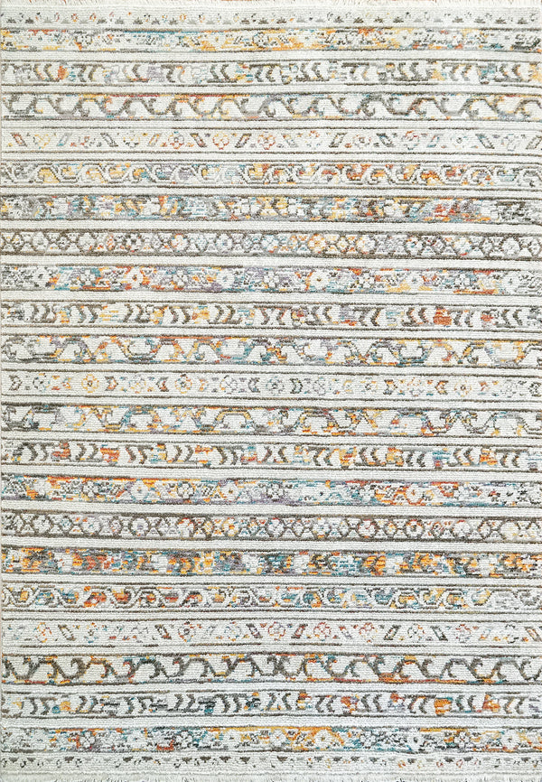 Angelo Surmelis Collection - Nola Rug 1031 (Light Grey/Multi)