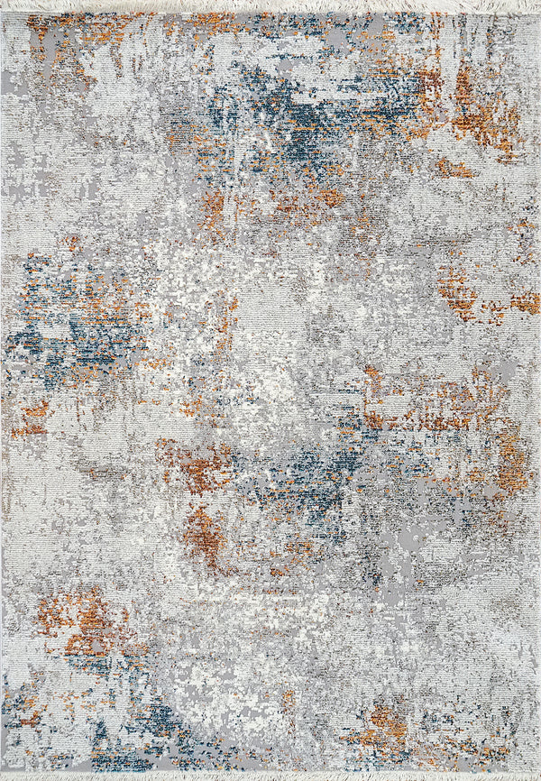 Angelo Surmelis Collection - Nola Rug 1038 (Grey/Blue/Burnt Orange)
