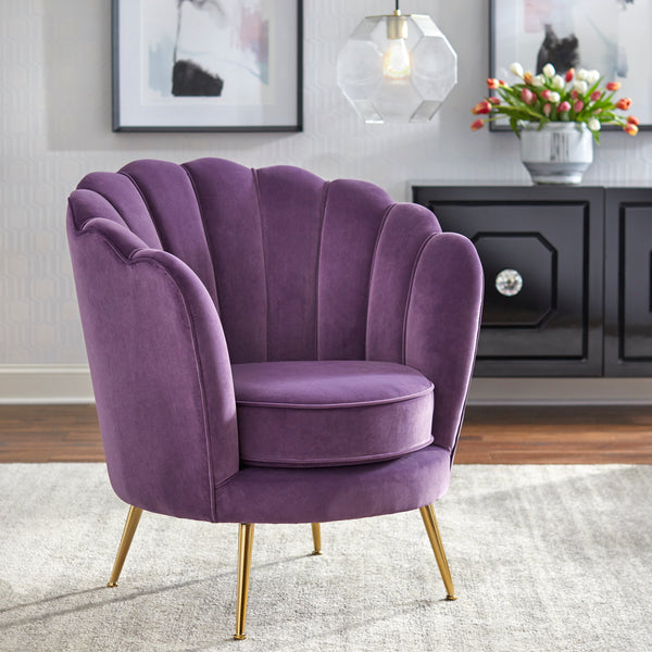 angelo:HOME Arm Chair - Twila in Plum