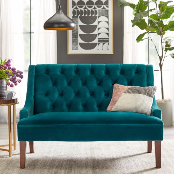 angelo:HOME Loveseat - Melina (emerald)
