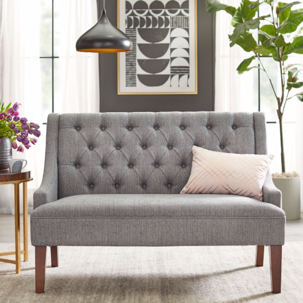 angelo:HOME Loveseat - Melina (grey)