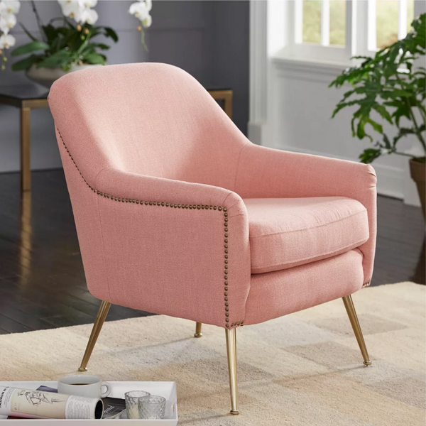Upholstered Chair - Vita in pink