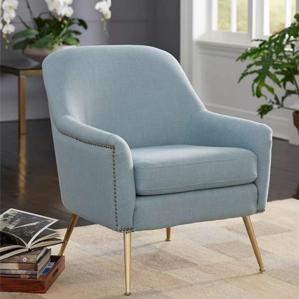 Upholstered Chair - Vita in blue