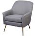 Upholstered Chair - Vita in grey