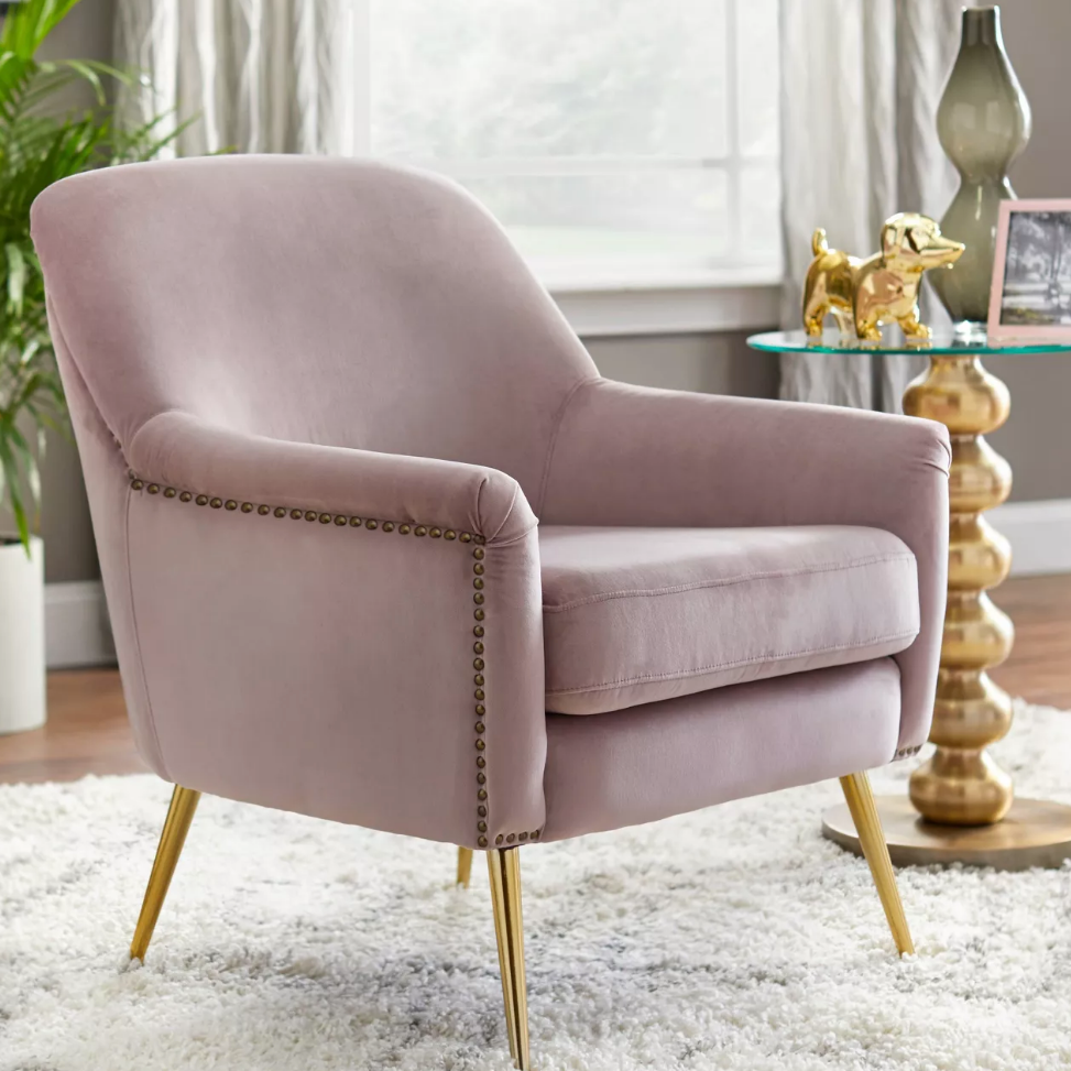 Upholstered Chair - Vita in rose