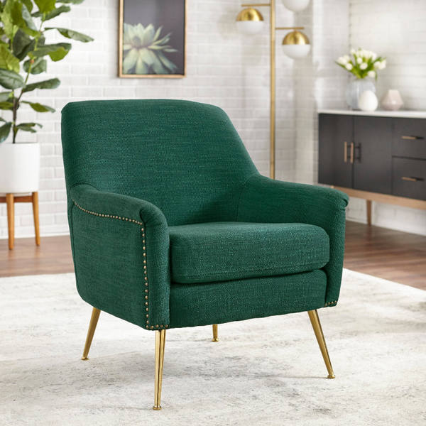 Upholstered Chair - Vita in green